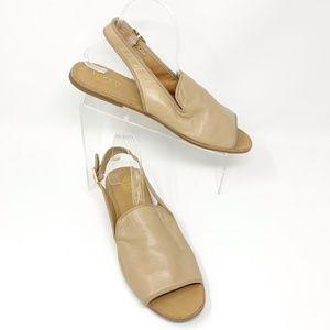 Franco Sarto Leather Slingback Sandals Size 12